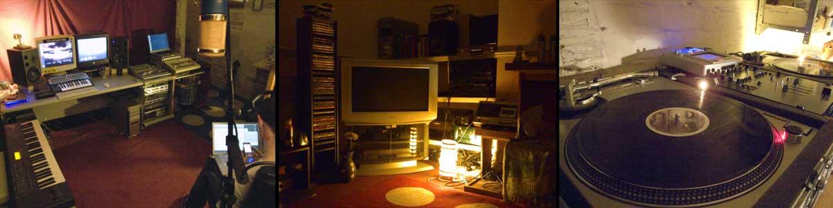 Burning Studios by night